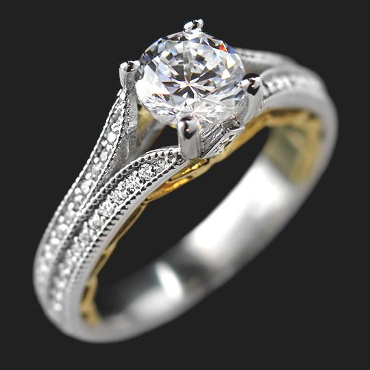 York Two Tone Engagement Ring