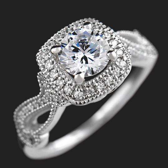 Marshall Two Tone Engagement Ring