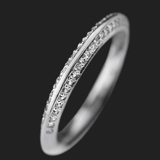Devotion Accented Wedding Band shown in 14KW|14KW