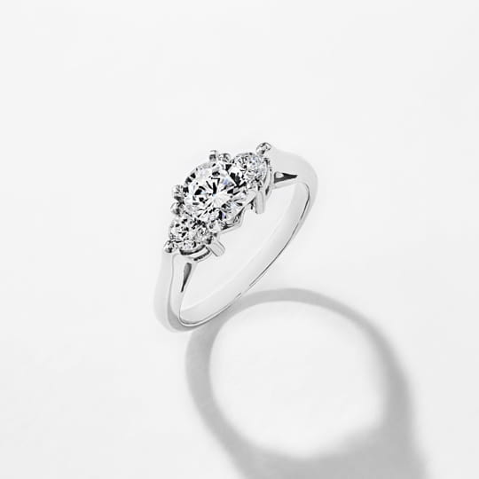 shop three stone ethical engagement rings