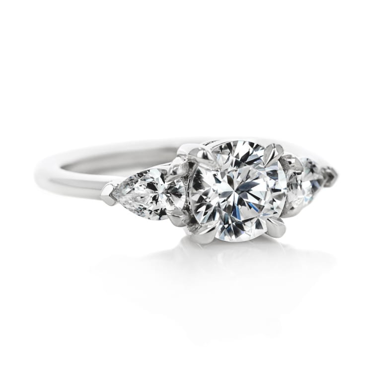 Emery Three Stone Engagement Ring