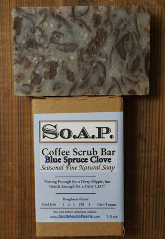Blue Spruce Clove Coffee Scrub Bar