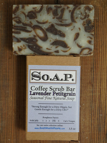 Lavender Petitgrain Coffee Scrub Bar