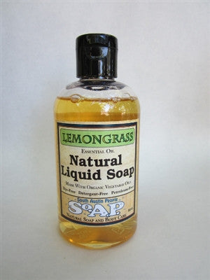 Lemongrass Liquid Soap 8oz.