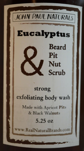 Men's Eucalyptus Detox Beard & Body Scrub 5 oz.