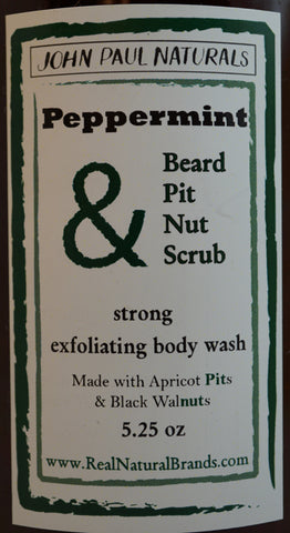 Men's Peppermint Detox Beard & Body Scrub 5 oz.