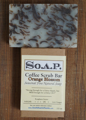 Orange Blossom Coffee Scrub Bar