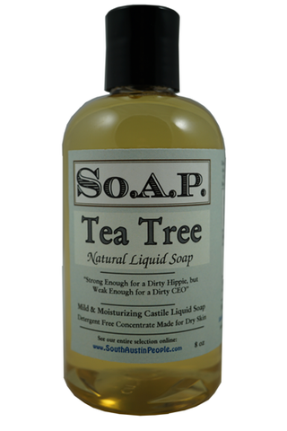 Tea Tree Liquid Soap 8 oz.