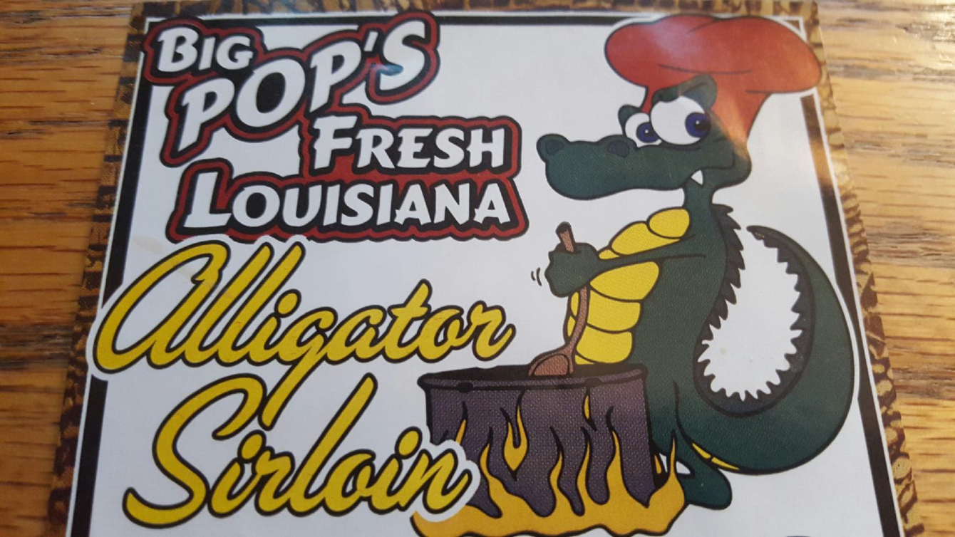 Big Pop's Fresh Louisiana Alligator Sirlion