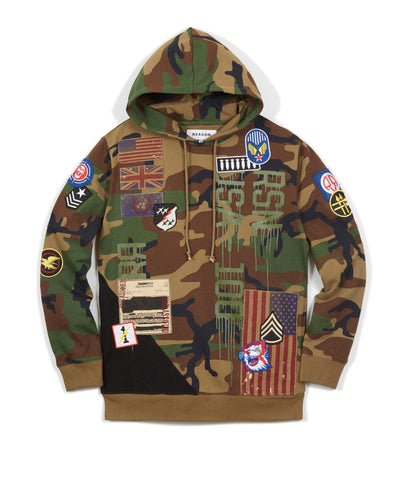 Reason Clothing Regiment Hood - Camo