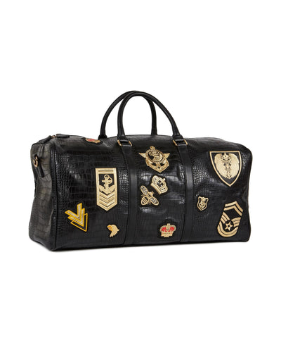 Reason Clothing Richmond Patches Duffle Bag -  Black