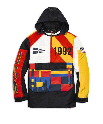 Reason Clothing Burgess Anorak Jacket - Multi