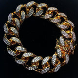 The GLD Shop Cuban CZ Bracelet - Gold