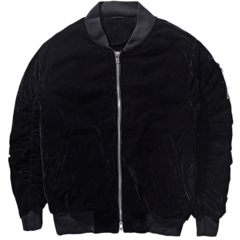 DSRCV Velour Bomber Jacket - Black