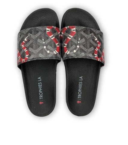 Trophies LA Snakes Slides - Black/Red