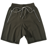 DSRCV DROP CROTCH ZIPPED SHORTS - KHAKI