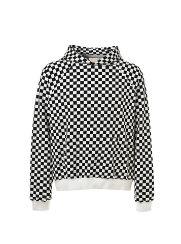 DSRCV Checkered Hoodie - White/Black