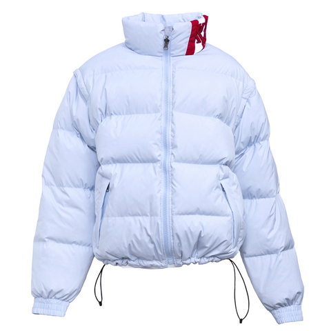 Karl Kani Legendary Kani Bubble Coat - Light Blue/Red