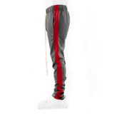 EPTM USA Techno Track Pants - Charcoal/Red