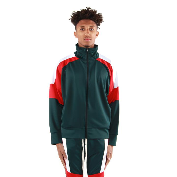 EPTM USA Color Block Track Jacket 2.0 - Green/Red