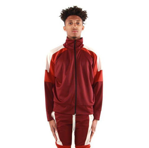 EPTM USA Color Block Track Jacket 2.0 - Burgundy/Rust