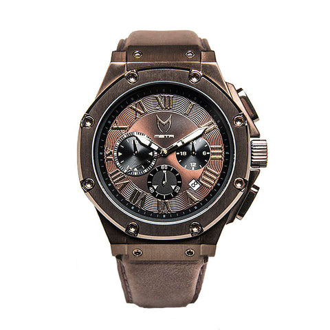 Meister Watches Ambassador Leather Band Watch – Brown
