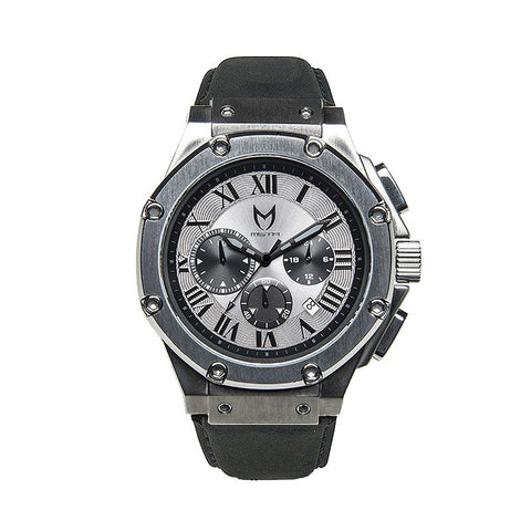Meister Watches Ambassador Alcantara Leather Band Watch – Titanium Grey