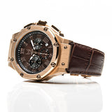 Meister Watches Ambassador Croc Leather Band Watch – Champagne Gold|Brown
