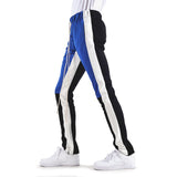 EPTM USA Color Block Track Pants - Blue/Black