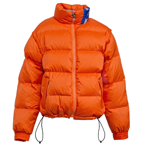 Karl Kani Legendary Kani Bubble Coat - Orange/Navy