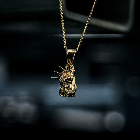 The GLD Shop Broken America Pendant - 18k Gold