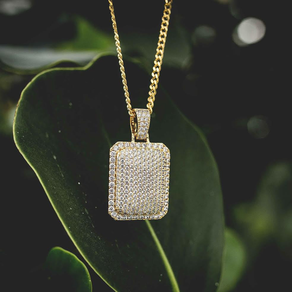 The GLD Shop Iced Out 18K Ice Cube Chain - Gold