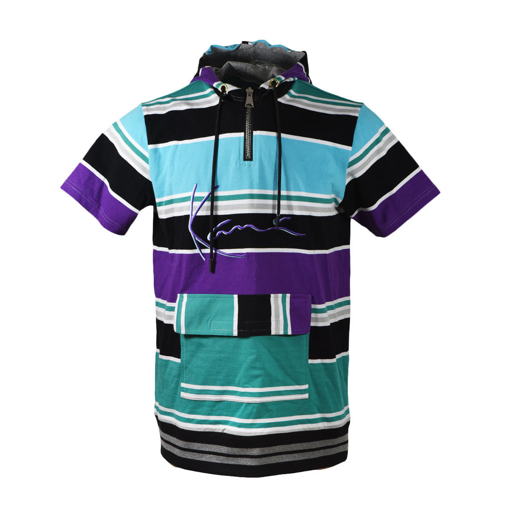 Karl Kani Gates Ave Rugby S/S Hodded Tee - Purple