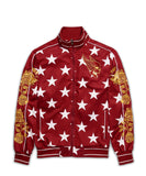 Reason Clothing Stars Track Jacket - Red