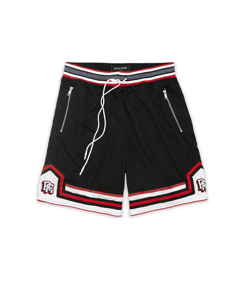 Reason Clothing Insignia Mesh Shorts - Black