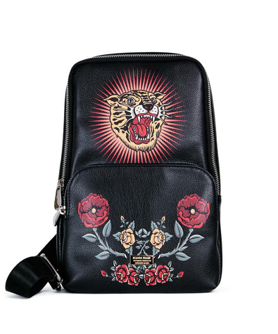 Reason Clothing Floral Sling Bag - Black