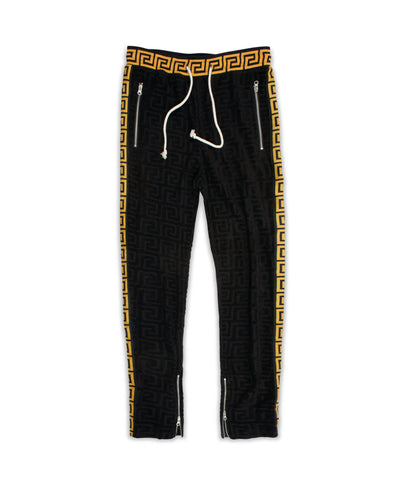 Reason Clothing Terry Track Pants - Black