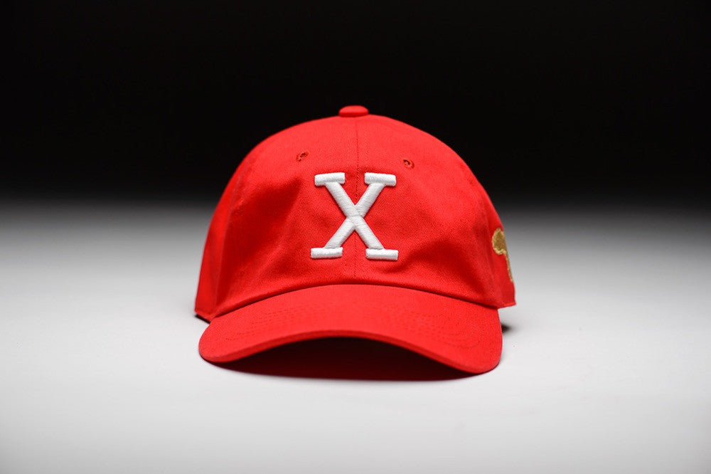 Sunset Vintage Flex X Retro Dad Hat - Malcom Red