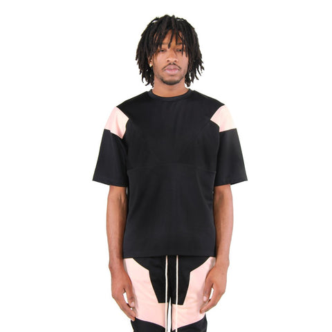 Eptm Engineered Color Block Tee - Black/Peach