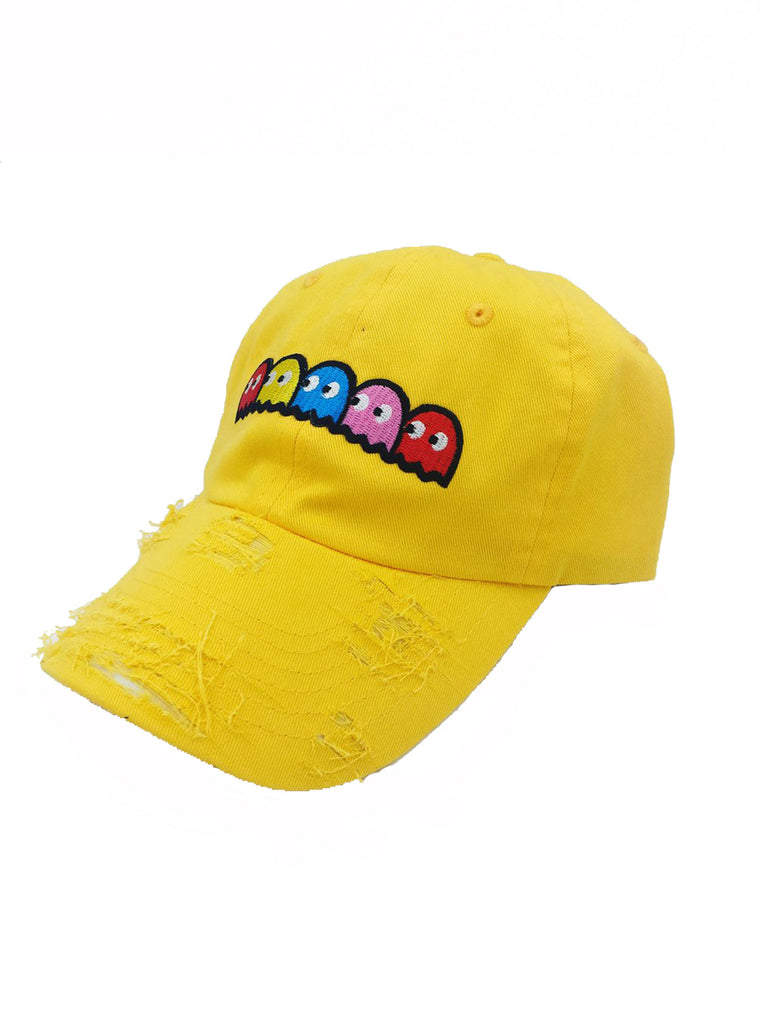 By Lee Apparel Pacman Distressed Dad Hat - Orange