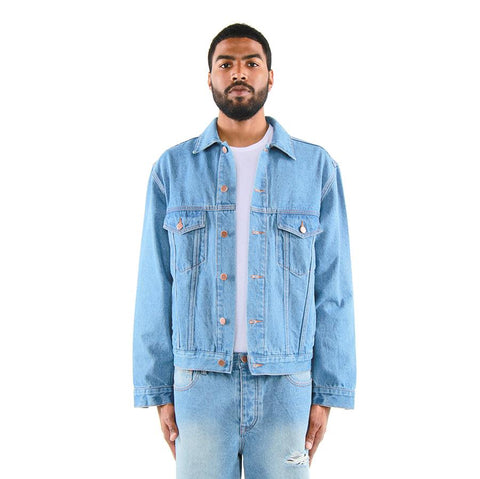 Eptm Blue Denim Trucker Jacket