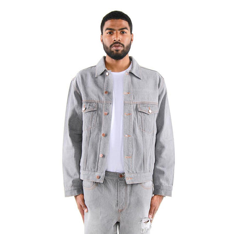 Eptm Grey Denim Trucker Jacket