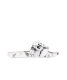 Reason Clothing Marble Slides - White