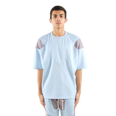 Eptm Engineered Color Block Tee - Sky Blue/Grey
