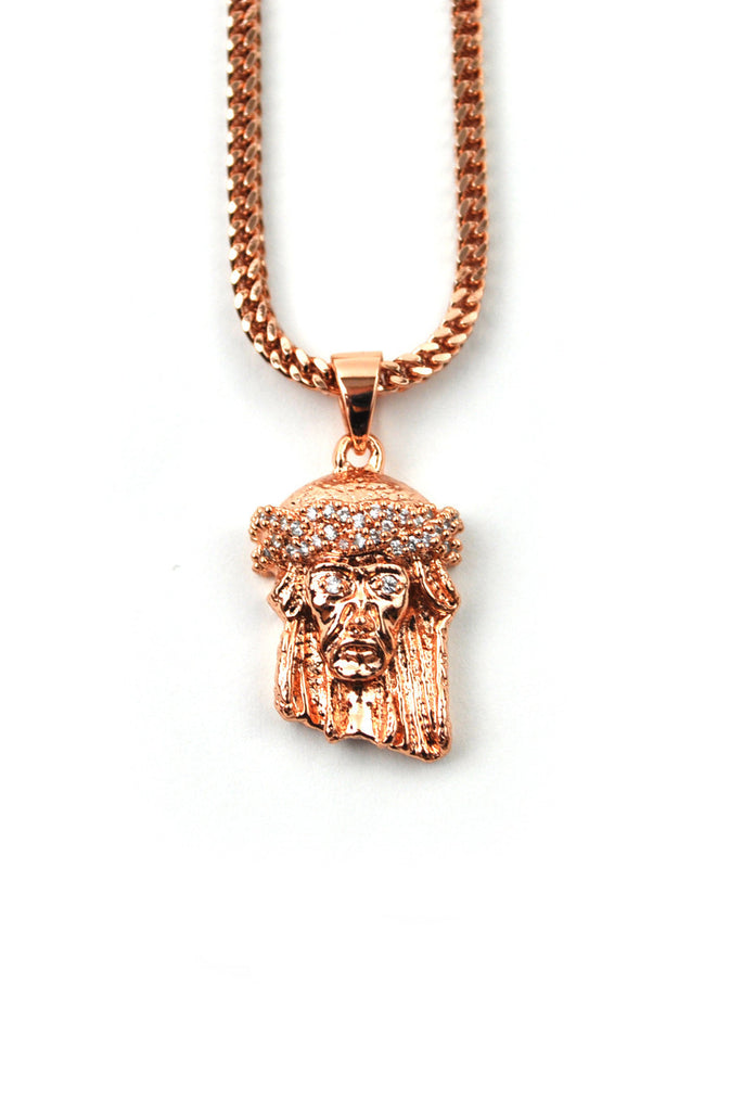 The Gold Gods Micro Jesus Piece - Rose Gold
