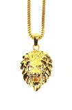 The Gold Gods Lion Head Necklace - Gold