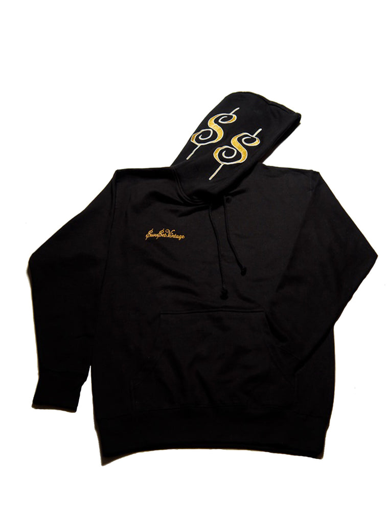 Sunset Vintage Flex Old Money Hoodie - Black