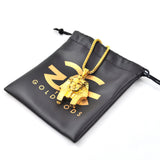 The Gold Gods Pharaoh Head Necklace - Gold