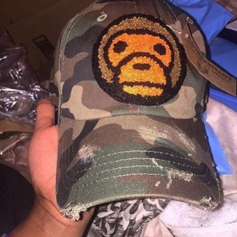 Caps By Lee Chenille Ape Distressed Dad Hat - Select Colour Below