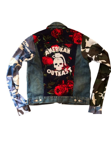 Amerikan Outkast Rage Camo Denim Jacket - Rose
